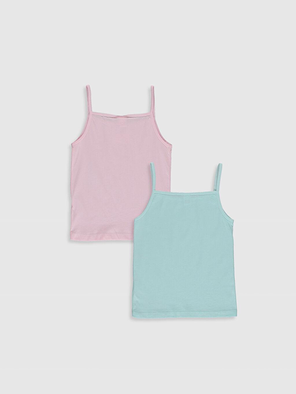 %100 Pamuk Standart İç Giyim Üst Kız Çocuk Niloya Baskılı Pamuklu Atlet 2'li
