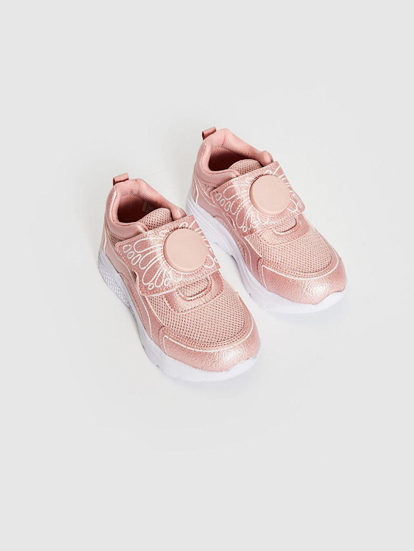 Pembe Kız Çocuk Cırt Cırtlı Günlük Ayakkabı 0SL814Z4 LC Waikiki