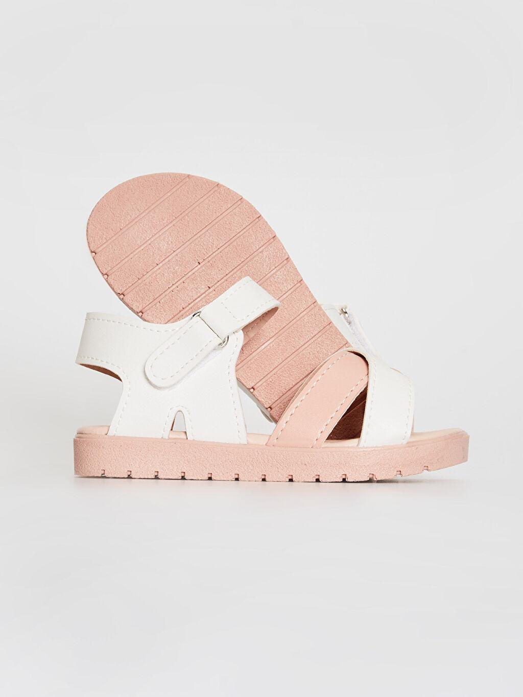 Kız Çocuk Kız Çocuk Cırt Cırtlı Çapraz Bant Sandalet