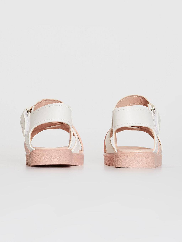 Kız Çocuk Cırt Cırtlı Çapraz Bant Sandalet
