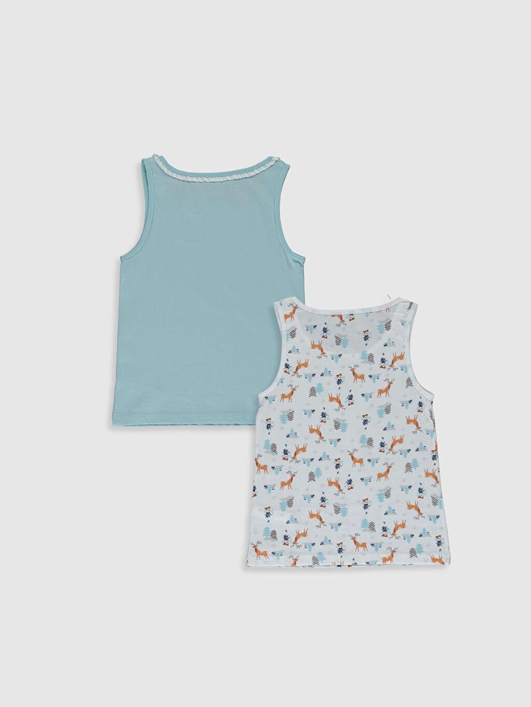 %100 Pamuk İç Giyim Üst Standart Kız Çocuk Pamuklu Atlet 2'li