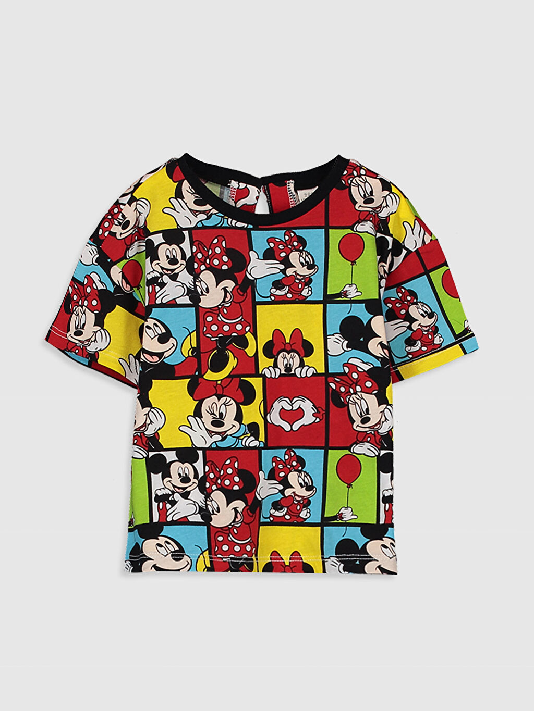 Siyah Kız Bebek Minnie Mouse Baskılı Pamuklu Tişört 0SN543Z4 LC Waikiki