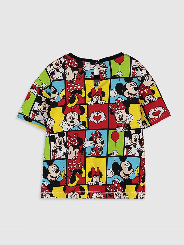 %100 Pamuk Standart Baskılı Tişört Bisiklet Yaka Kısa Kol Kız Bebek Minnie Mouse Baskılı Pamuklu Tişört