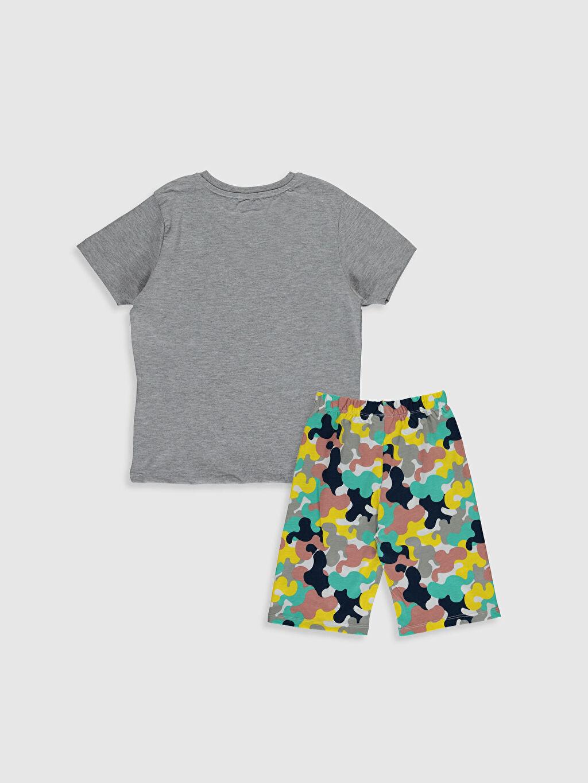 %100 Pamuk Standart Pijamalar Erkek Çocuk Baskılı Pamuklu Pijama Takımı