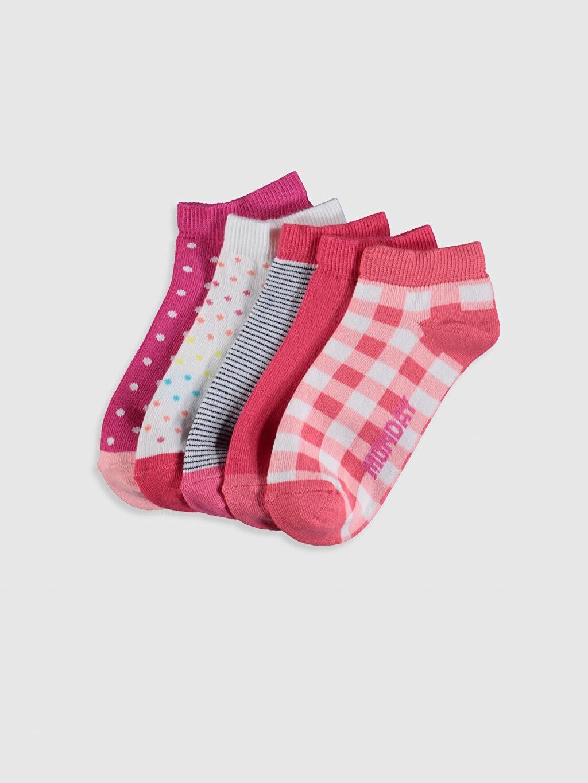 Pembe Kız Çocuk Patik Çorap 5'li 0SN800Z4 LC Waikiki