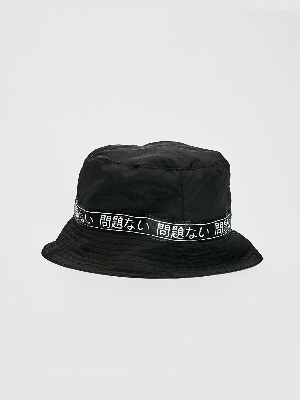 Siyah Şerit Detaylı Bucket Şapka 0SN863Z4 LC Waikiki