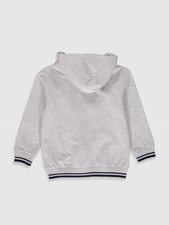 %80 Pamuk %20 Polyester  Erkek Çocuk Fermuarlı Kapüşonlu Sweatshirt