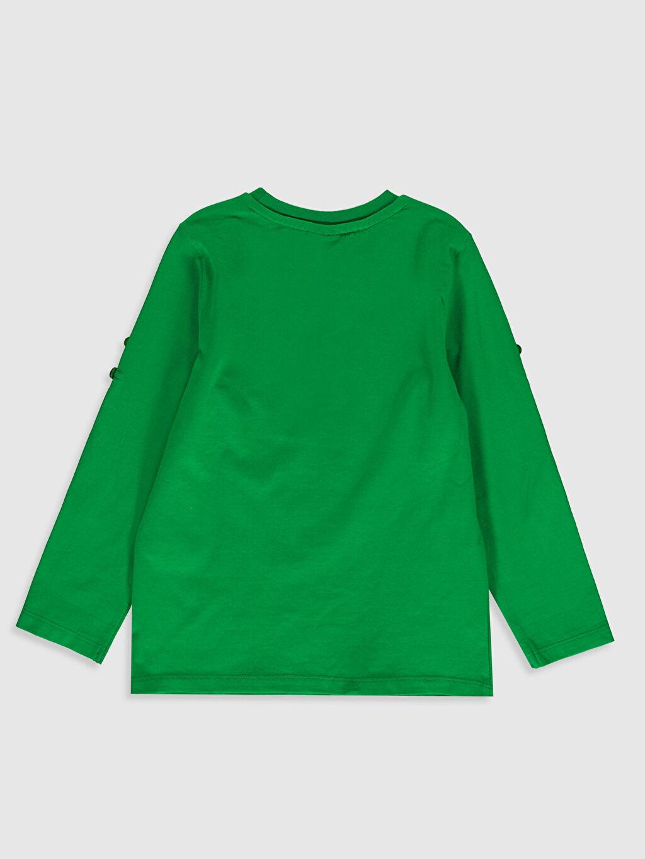 %100 Pamuk Baskılı Normal Bisiklet Yaka Tişört Uzun Kol Erkek Çocuk Baskılı Pamuklu Tişört