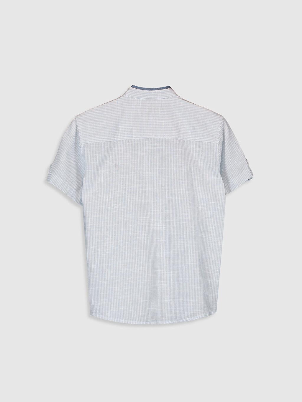 %100 Pamuk Standart Düz Kısa Kol Erkek Çocuk Poplin Gömlek