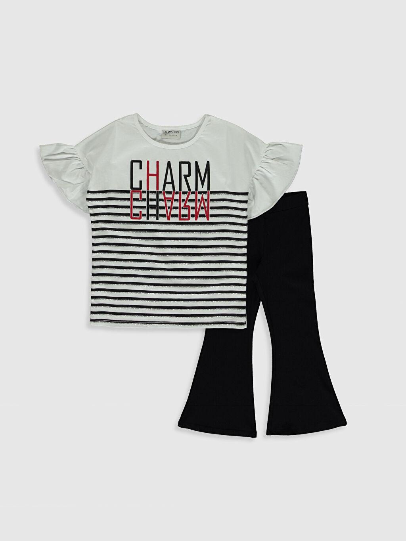Siyah Kız Çocuk Tişört ve Pantolon 0SO613Z4 LC Waikiki