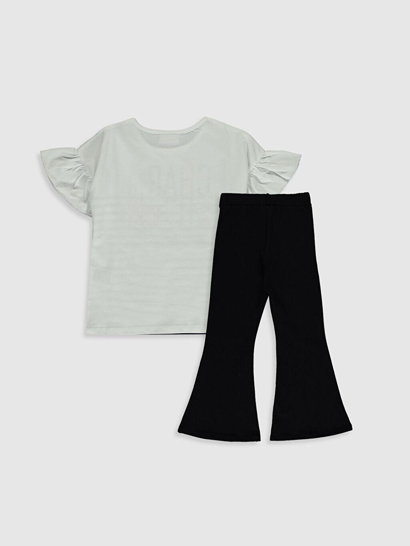 %94 Pamuk %6 Elastan  Kız Çocuk Tişört ve Pantolon