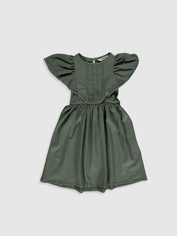 Yeşil Kız Çocuk Dantel Detaylı Elbise 0SO658Z4 LC Waikiki