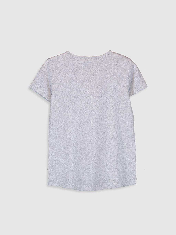 %60 Pamuk %40 Polyester Standart Baskılı Tişört Bisiklet Yaka Kısa Kol Kız Çocuk Dumbo Baskılı Tişört