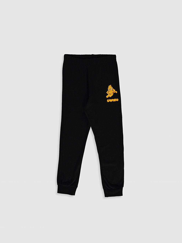 %67 Pamuk %33 Polyester Kız Çocuk Garfield Baskılı Pijama Takımı