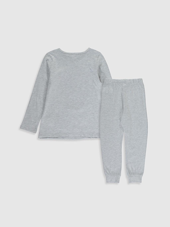 %67 Pamuk %33 Polyester Standart Pijamalar Kız Çocuk Safinaz Baskılı Pijama Takımı