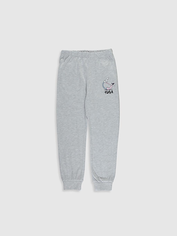 %67 Pamuk %33 Polyester Kız Çocuk Safinaz Baskılı Pijama Takımı