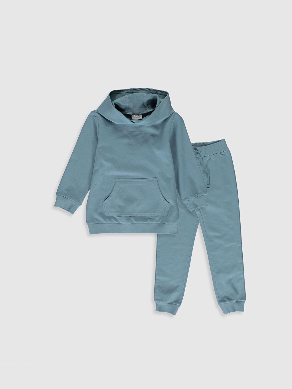 Mavi Kız Çocuk Sweatshirt ve Eşofman Altı 0SA273Z4 LC Waikiki