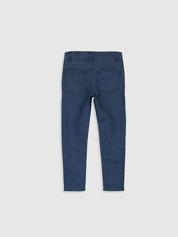 %87 Pamuk %11 Polyester %2 Elastan Normal Bel Dar Erkek Çocuk Super Skinny Jean Pantolon