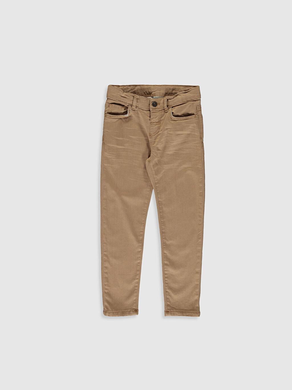 Bej Erkek Çocuk Super Skinny Jean Pantolon 0SB319Z4 LC Waikiki