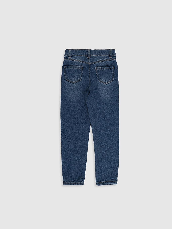%100 Pamuk Normal Bel Standart Kız Çocuk Jean Pantolon