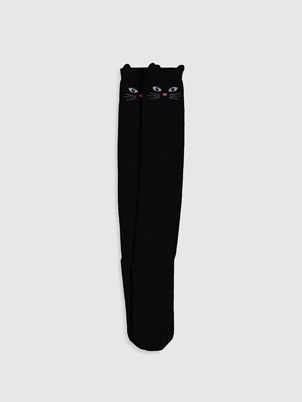 Siyah Kız Çocuk Diz Altı Çorap 0SC287Z4 LC Waikiki