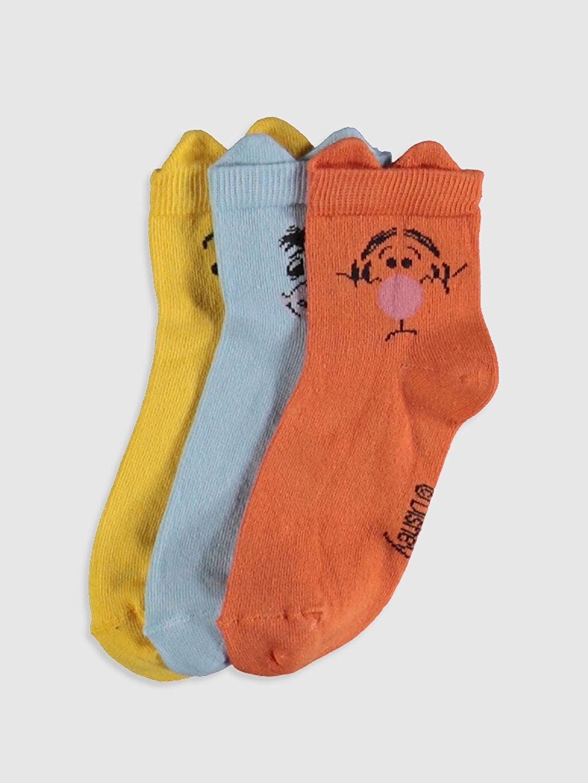 Sarı Kız Çocuk Soket Çorap 3'lü 0SC496Z4 LC Waikiki