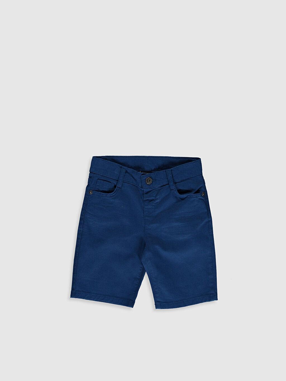 Mavi Erkek Çocuk Slim Gabardin Bermuda 0SC672Z4 LC Waikiki
