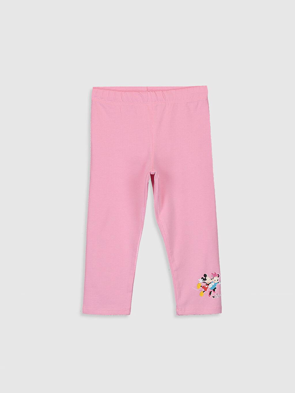 Pembe Kız Çocuk Minnie Mouse Baskılı Tayt 0SC860Z4 LC Waikiki