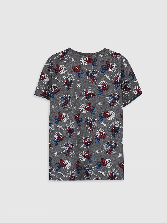 %48 Pamuk %52 Polyester Normal Bisiklet Yaka Baskılı Tişört Kısa Kol Erkek Çocuk Spiderman Baskılı Tişört