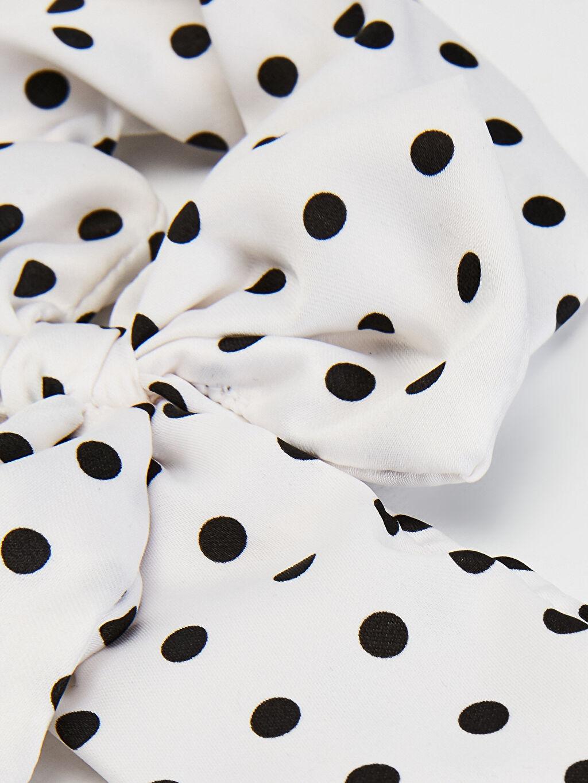 %100 Polyester  Kız Çocuk Puantiye Detaylı Fular