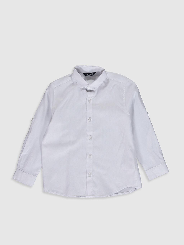 %50 Pamuk %50 Polyester %100 Polyester Standart Uzun Kol Düz Erkek Çocuk Poplin Gömlek ve Kravat
