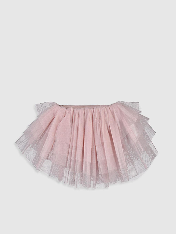 %100 Polyester Diz Üstü Düz Kız Çocuk Tütü Etek