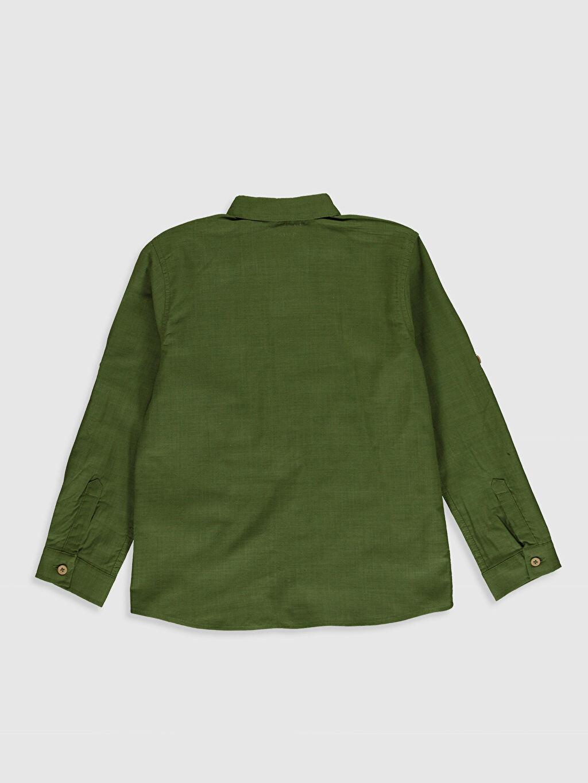 %100 Pamuk Düz Standart Uzun Kol Erkek Çocuk Uzun Kollu Pamuklu Gömlek