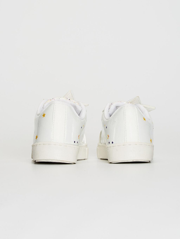 Kız Çocuk Yıldız Aplikeli Günlük Spor Ayakkabı