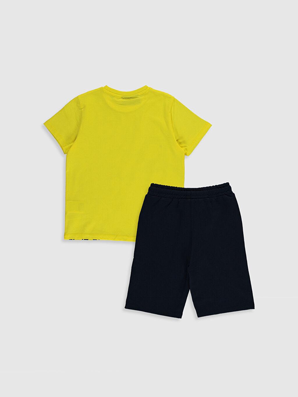 %100 Pamuk %78 Pamuk %22 Polyester  Erkek Çocuk Fenerbahçe Baskılı Tişört ve Şort