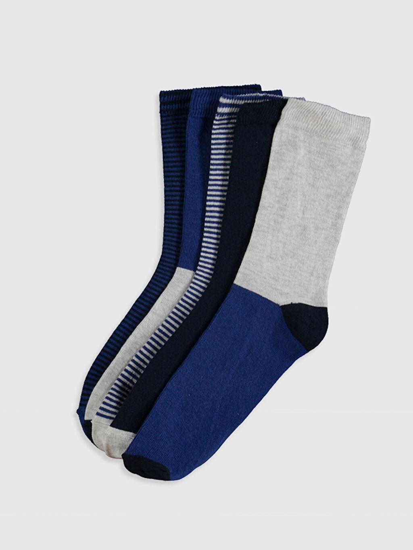 Lacivert Erkek Çocuk Soket Çorap 5'li 0SF427Z4 LC Waikiki