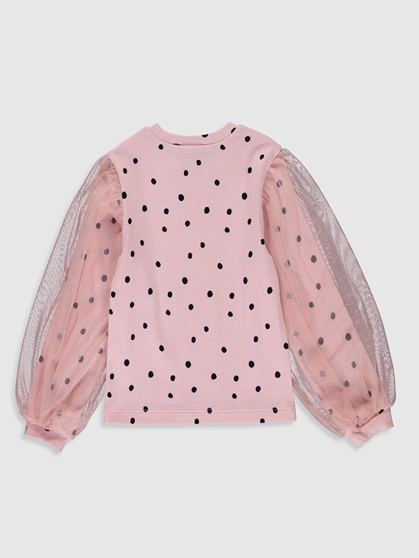 Kız Çocuk Kız Çocuk Puantiyeli Pamuklu Tişört