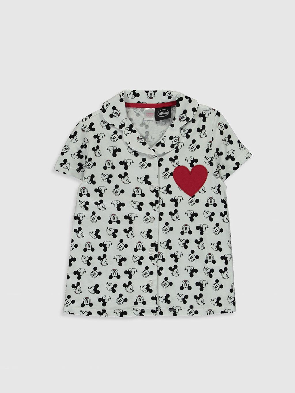 Kız Çocuk Kız Çocuk Mickey Mouse Baskılı Pijama Takımı