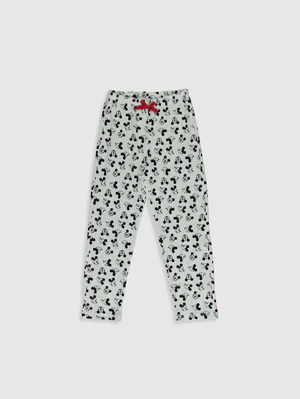 %100 Pamuk Kız Çocuk Mickey Mouse Baskılı Pijama Takımı