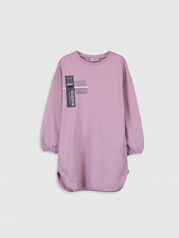 Lila Kız Çocuk Sweatshirt Elbise 0SQ194Z4 LC Waikiki