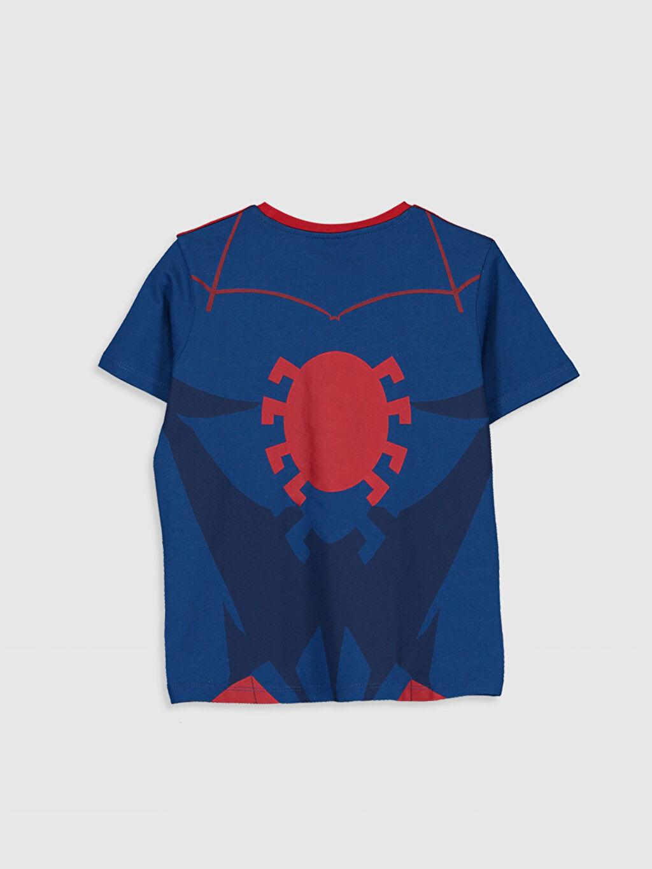 %100 Pamuk Normal Bisiklet Yaka Baskılı Tişört Kısa Kol Erkek Çocuk Spiderman Pamuklu Tişört
