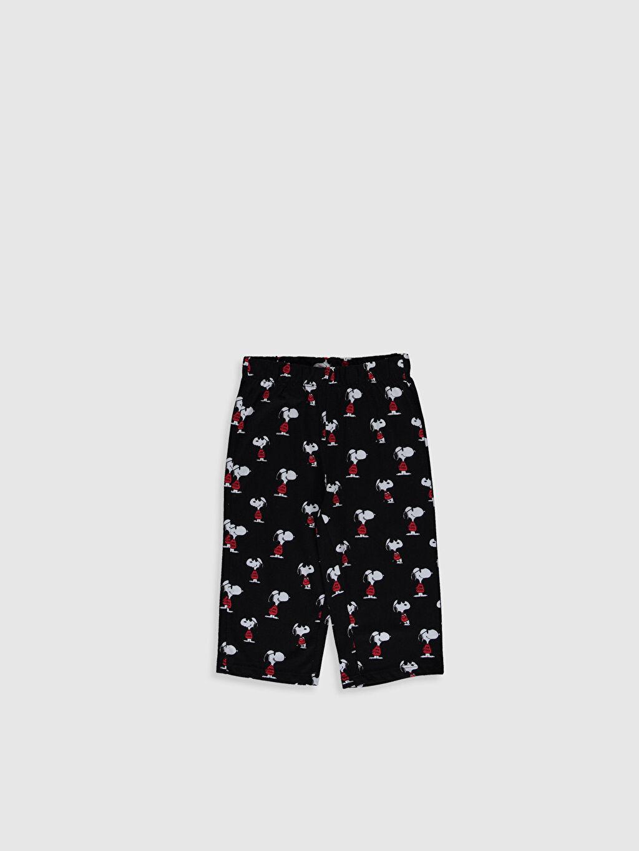 %67 Pamuk %33 Polyester Kız Çocuk Snoopy Baskılı Pijama Takımı
