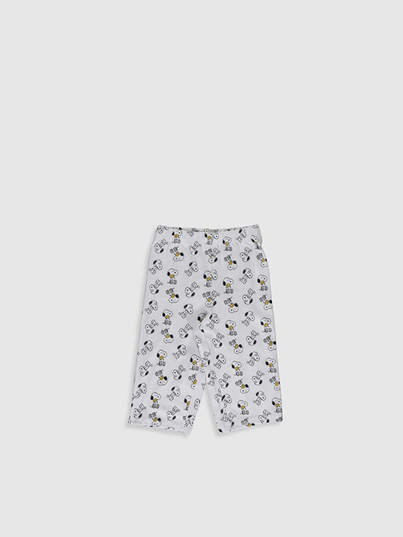 %100 Pamuk Kız Çocuk Snoopy Baskılı Pamuklu Pijama Takımı