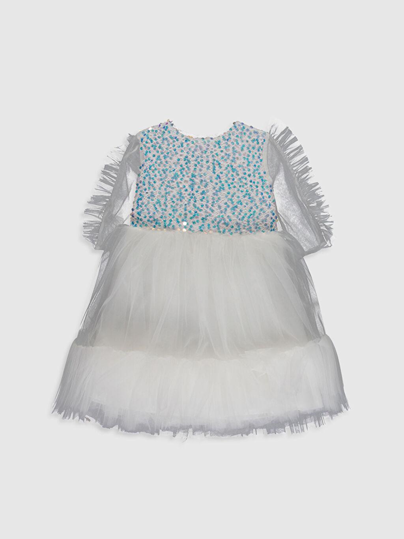 Ekru Daisy Girl Kız Bebek Payetli Abiye Elbise 0SS846Z4 LC Waikiki