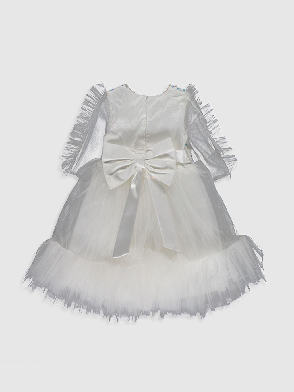 Desenli Daisy Girl Kız Bebek Payetli Abiye Elbise