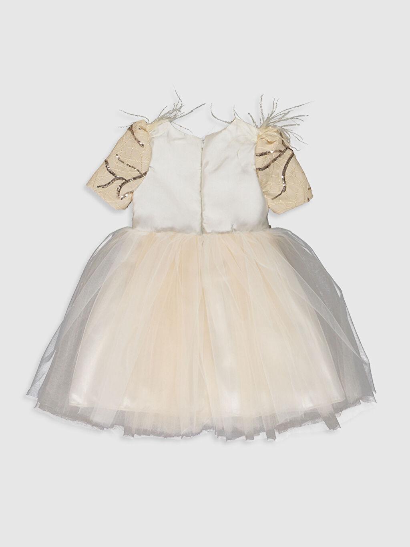 Desenli Daisy Girl Kız Bebek Desenli Abiye Elbise
