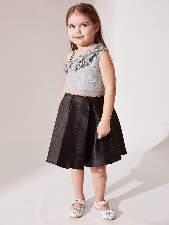 Kız Çocuk Daisy Girl Kız Çocuk Omuz Detaylı Abiye Elbise