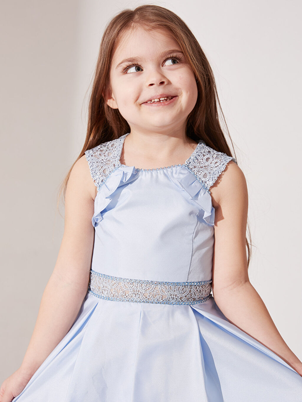 Kız Çocuk Daisy Girl Kız Çocuk Dantel Detaylı Abiye Elbise
