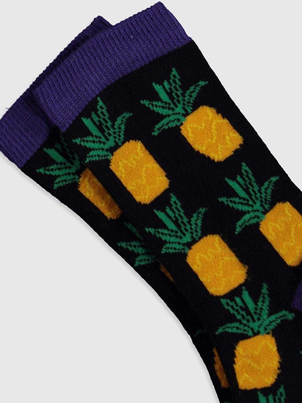 Erkek Çocuk Erkek Çocuk Ananas Desenli Soket Çorap