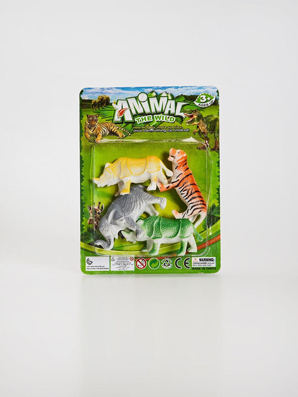 Çok Renkli Oyuncak Vahşi Hayvan Seti 0SU096Z4 LC Waikiki